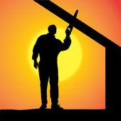 Vector silhouette of a man. — Stockvektor