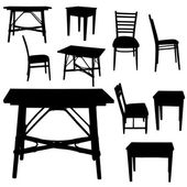 Vector silhouette of furniture. — Stock Vector