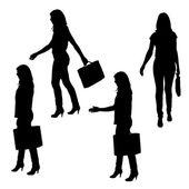 Vector silhouette of businesswoman. — Stock Vector