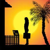 Silhouette vecteur d'une femme. — Vecteur