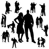 Vector silhouette of dance. — Stock Vector