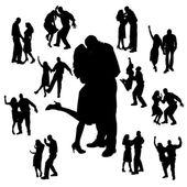 Vektor-silhouette des tanzes. — Stockvektor