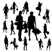 Vector silhouette of a woman. — Stockvektor