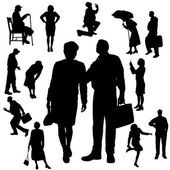 Vector silhouette of people. — Stock Vector