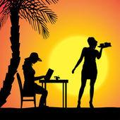 Vettore silhouette di persone. — Vettoriale Stock