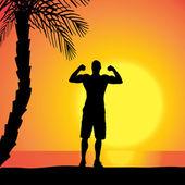 Vector silhouette of man. — Stock Vector