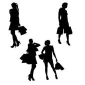Vector silhouette of a woman. — Stockvector