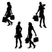 Vector silhouette of a woman. — Vector de stock