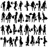 Vector silhouette of people. — Stockvektor