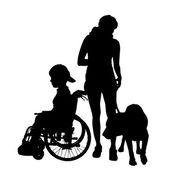 Vector silhouette of a family. — Stock Vector
