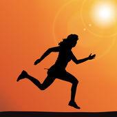 Silhouette vettoriali di una donna. — Vettoriale Stock