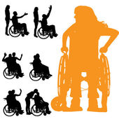 Vector silhouette of a people. — Stock Vector