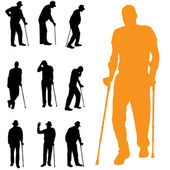 Vector silhouettes of people — Stock Vector