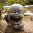 Little Buddha statue in the garden — Stock Photo #30589187