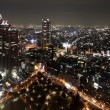 de stad Tokio in schemering — Stockfoto