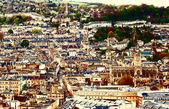 Aerial view of city Bath , England — Stock Photo