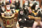 Figurines of Orthodox priests — Stock Photo