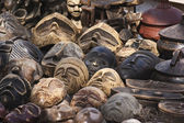 Old african masks sale — Stock Photo