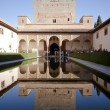 Court of the Myrtles in La Alhambra — Stock Photo