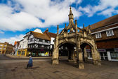 Typical England buildings — Stock Photo