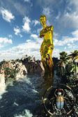 Golden statue of Venus — Stock Photo