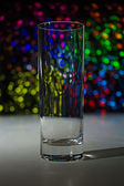 Empty glass with bokeh — Stock Photo