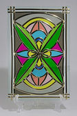 Colorful stained glass — Zdjęcie stockowe