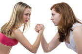 Arm wrestling — Stock Photo