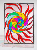 Stained glass - sun — Stock Photo