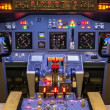 Cockpit of an homemade Flight Simulator - Boeing 737-800 — Stock Photo