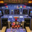 Cockpit of homemade Flight Simulator - Boeing 737-800 — Stock Photo #30502413