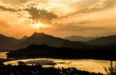 Mekong River at Sunset - Luang Prabang, Laos — Stock Photo