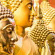 Detail of golden Buddha Statues — Stock Photo