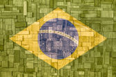 Brazilian Flag on a wooden Background — Stock Photo