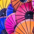 Multicolored Umbrellas at Night Market - South East Asia — Stock Photo #30898777