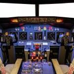 Постер, плакат: Cockpit of an homemade Flight Simulator