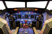 Cockpit of an homemade Flight Simulator — Stock Photo