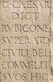 Roman Latin Letters - Julius Caesar Stone — Stock Photo