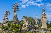 Statues géantes dans le parc de sculptures - nong khai, thaïlande — Photo