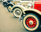 Vintage Cars Wheels — Stock Photo