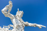 Giant with Sword - Wat Rong Khun - White Temple — Stock Photo