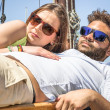 Couple of Lovers caught by Paparazzi — Stock Photo