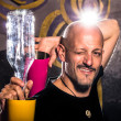 Stock Photo: Freestyle American Bartender - Acrobatic Cocktails
