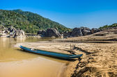 Longtail Boat on Mekong River, Laos — Stock Photo