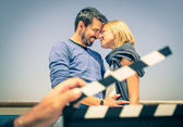 Couple in Love like in a Movie — Stock Photo