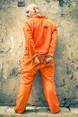 Dead Man Walking - Prisoner with Handcuffs standing proud — Stock Photo