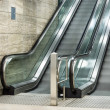 Modern Escalators with blurred Motion — Stock Photo