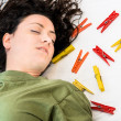 Stock Photo: Unconscious Housewife - Accident at Home