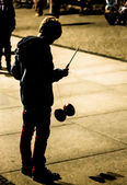 Kid playing Diabolo — Stock Photo