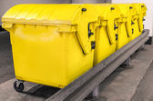 Yellow waste Containers - Recycling bin for special Rubbish — Stock Photo